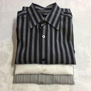Lot of 3 Men's Dress Shirts Calvin Klein, Murano